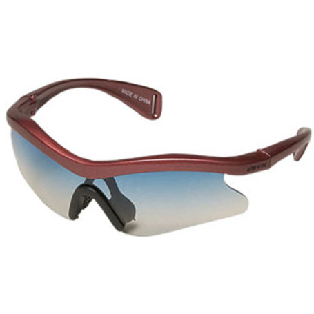 Sunglasses Wrap Style with Light Blue Lenses