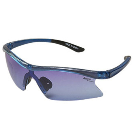 Wrap Style Sunglasses with Light Blue Lenses