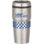 16 Oz Stainless Tumbler with Dotted Rubber Grip