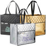 Custom Printed Laminated Non-Woven Quilted Carry-All Tote