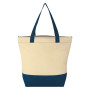 Natural Zippered Tote Bag