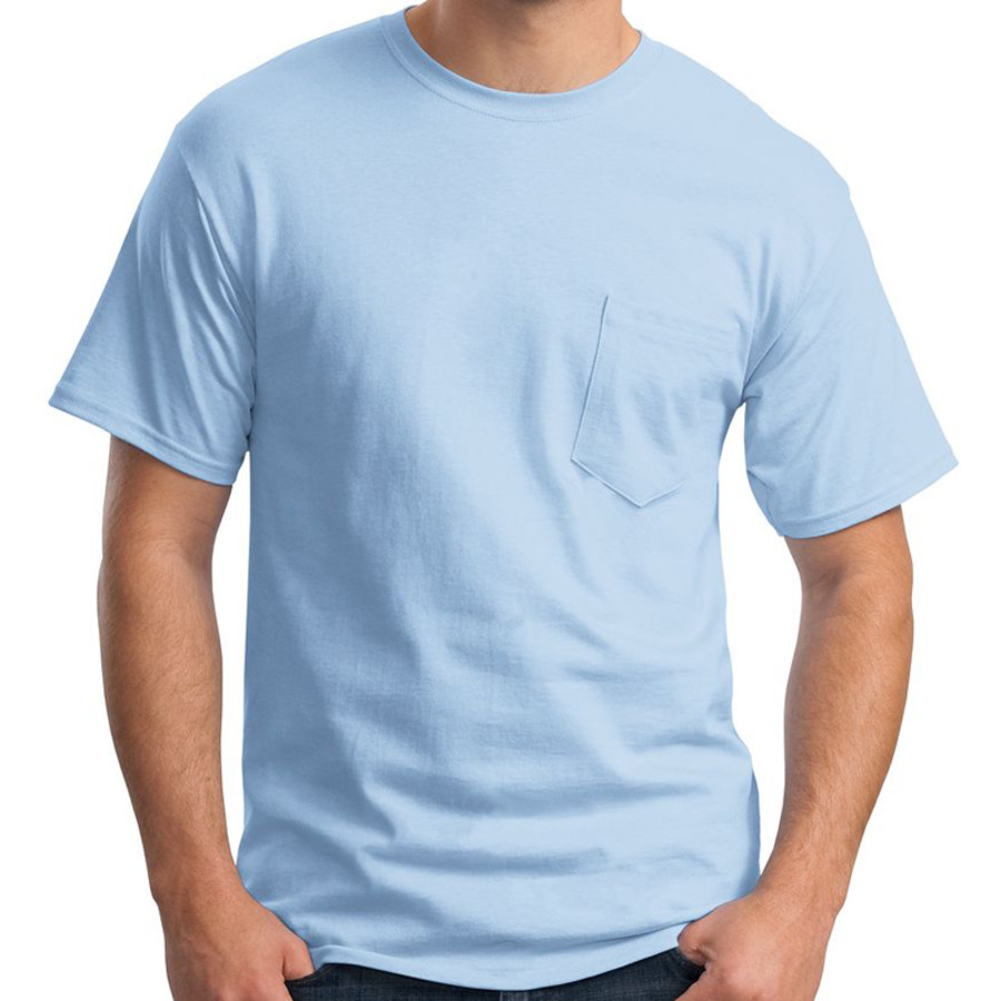 Hanes Tagless 100% Cotton T-Shirt w/Pocket