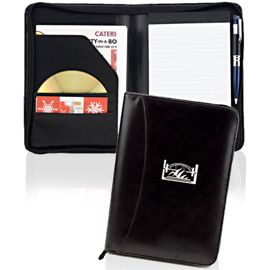 6.5 x 9 Junior Zipper Padfolio