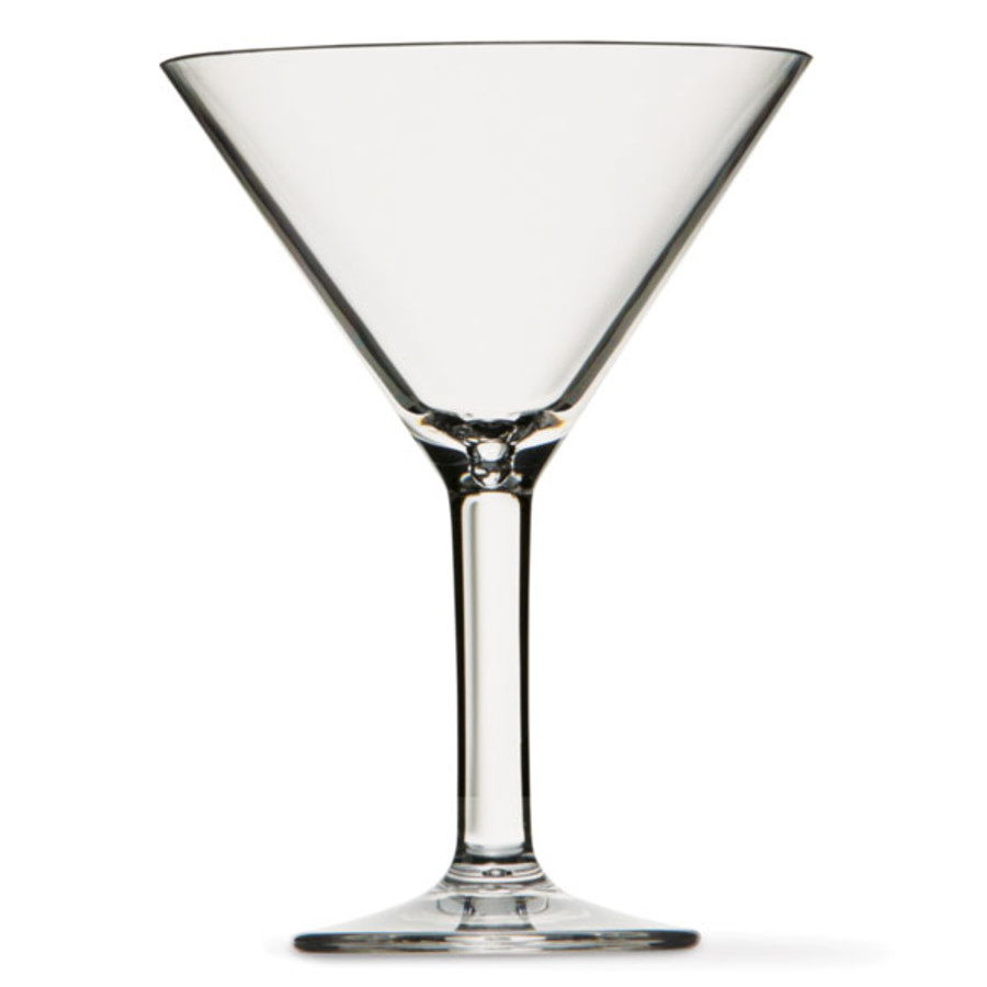 Clear Acrylic Martini Glass