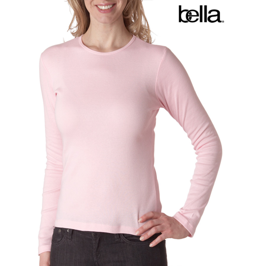 Bella Baby-Rib Long-Sleeve Crewneck Tee