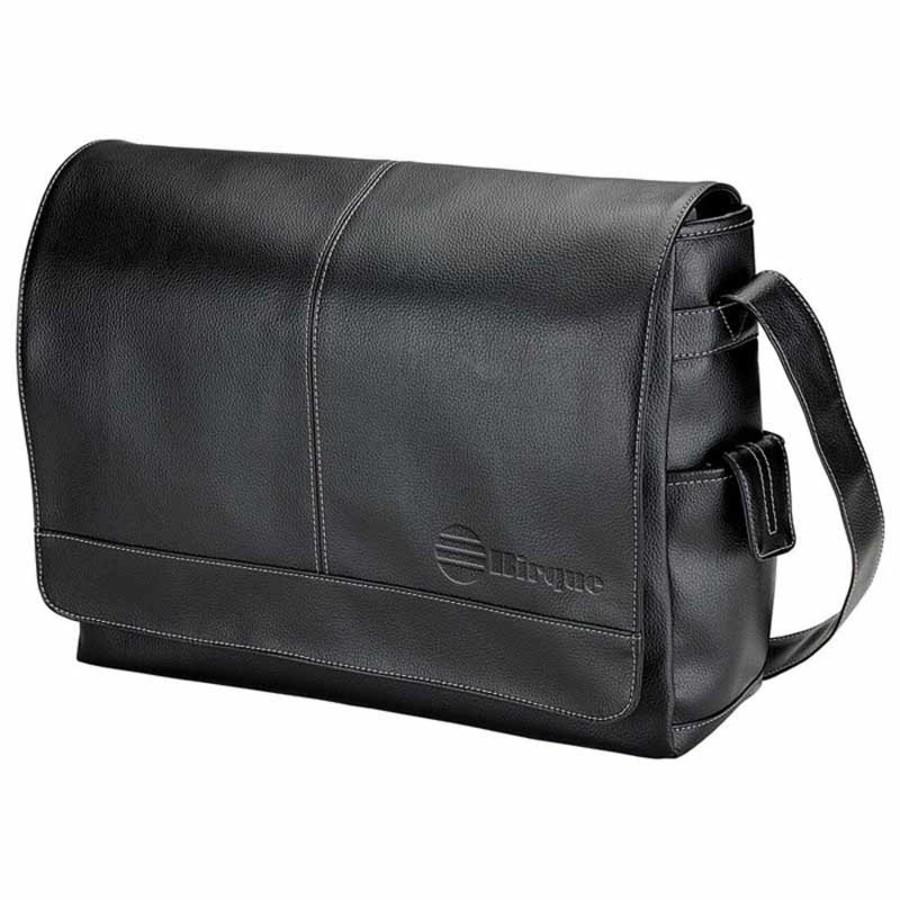 Monogrammed Lichee Messenger Bag