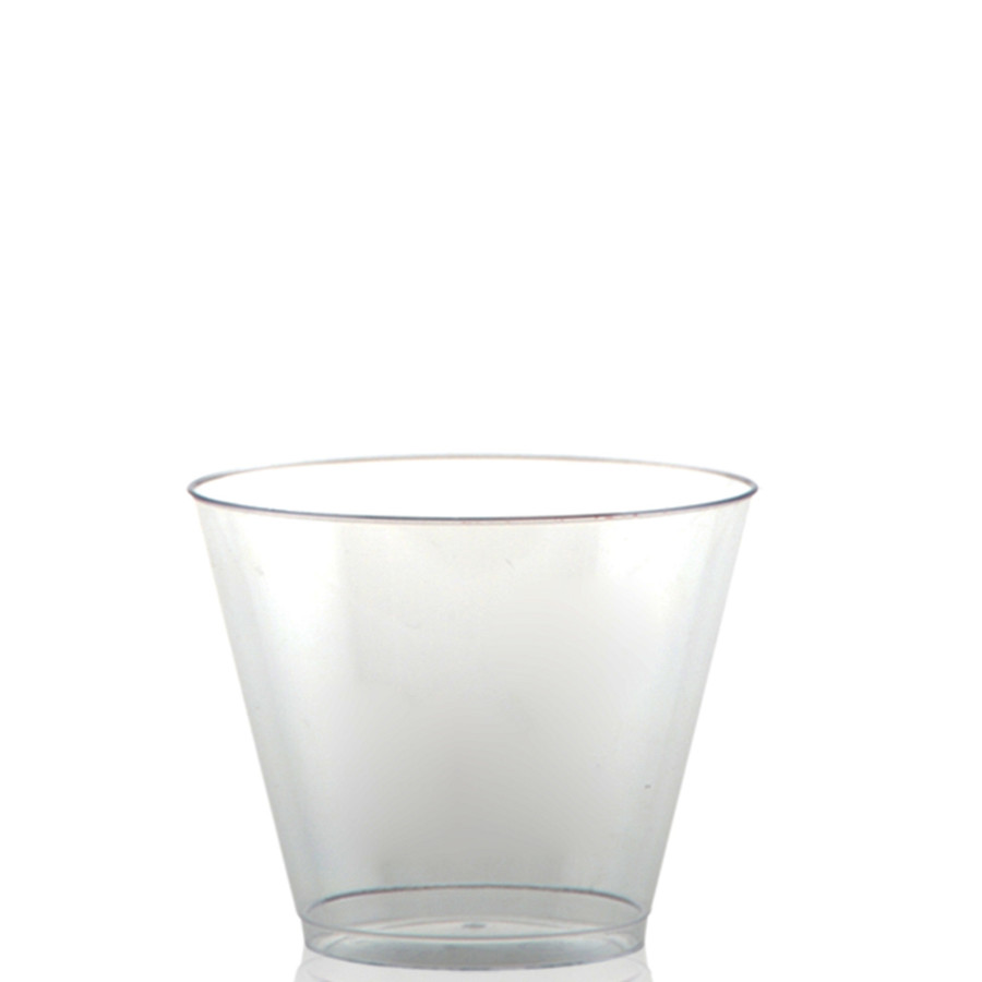 9 oz. Clear Plastic Rocks Cups