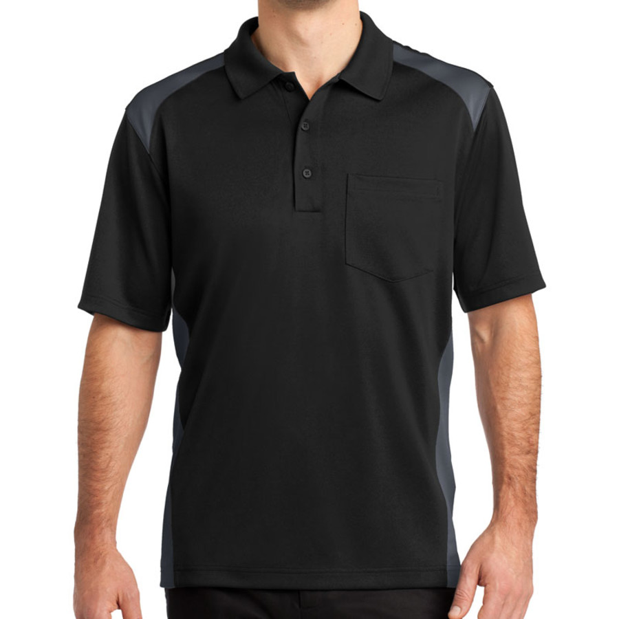 7b8c20cb CornerStone Select Snag-Proof Two Way Colorblock Pocket Polo (Apparel)