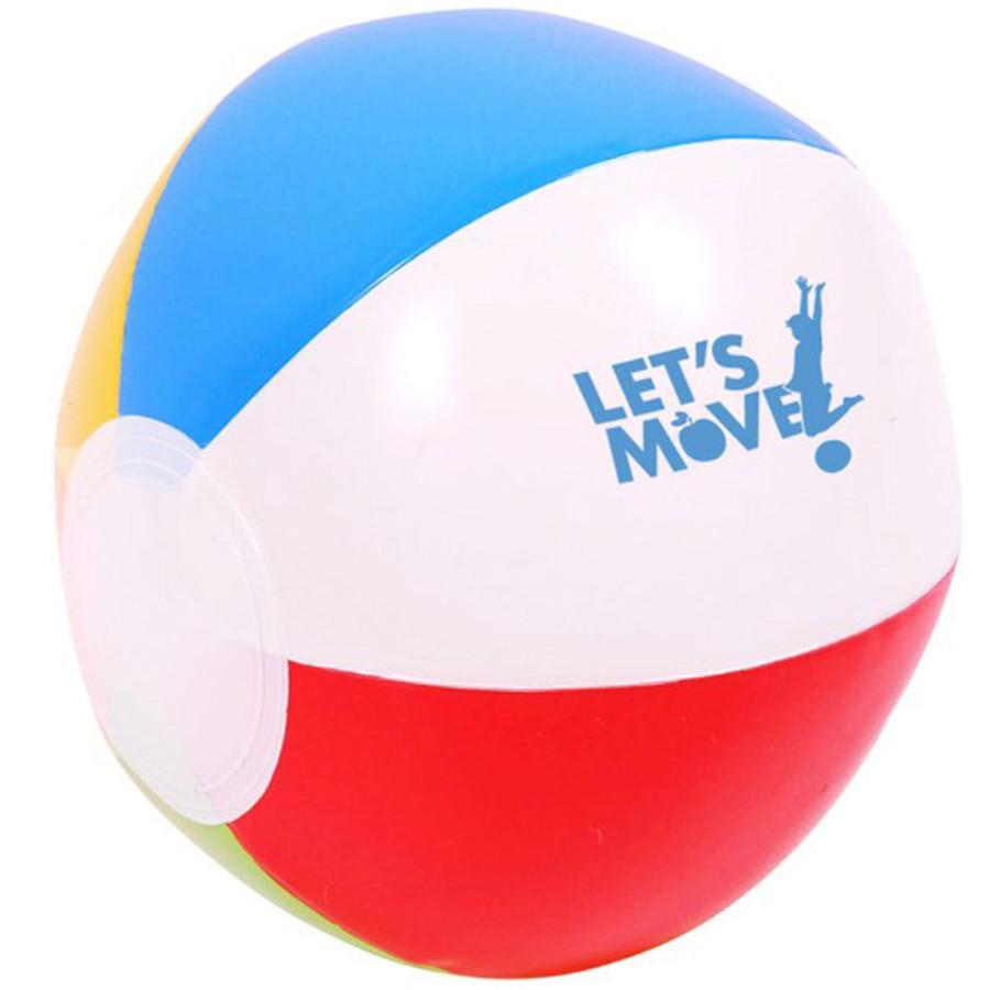 "Custom 6"" Multi Colored Beach Ball"