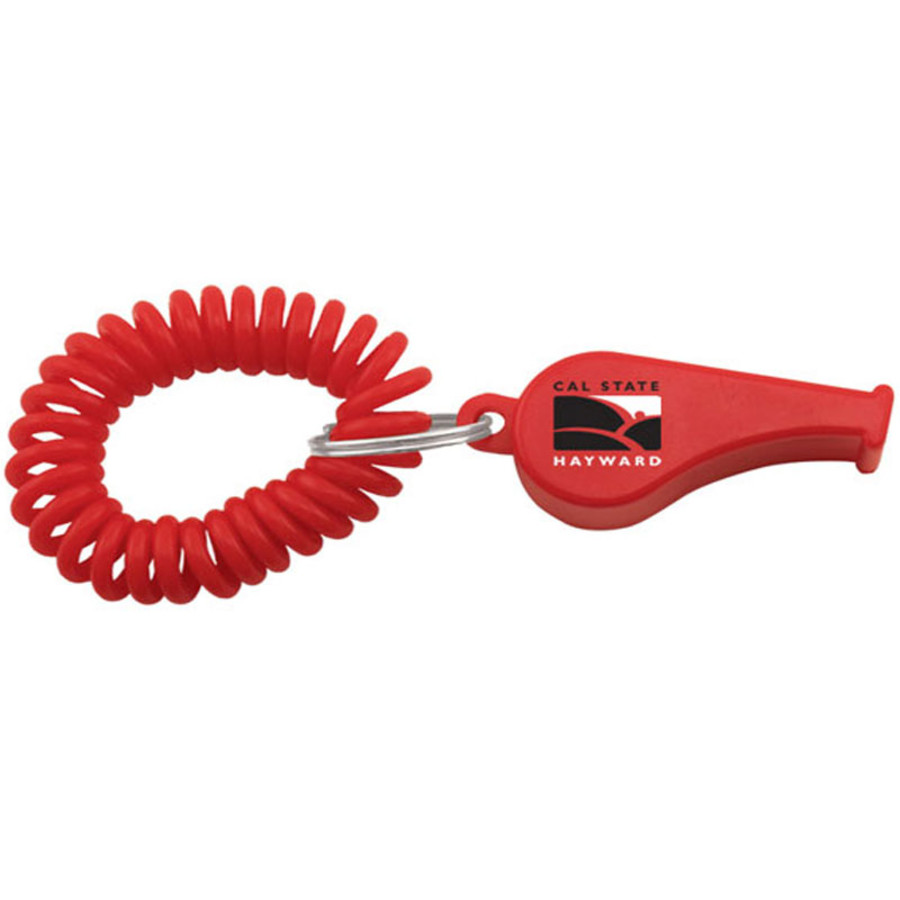 Custom Whistle Coil Key Chain