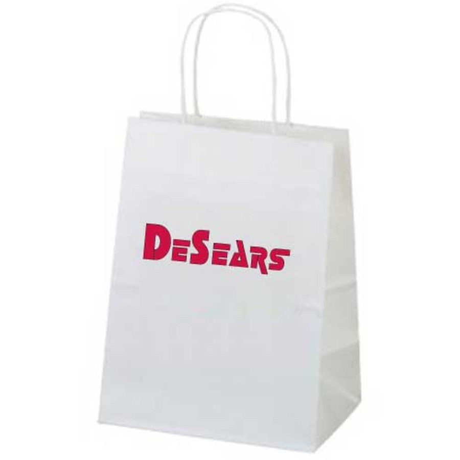 Logo White Paper Bag