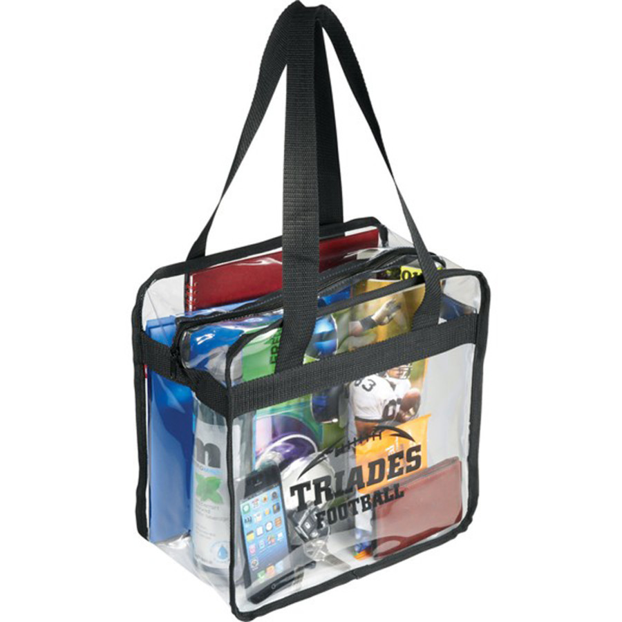 Customizable Game Day Clear Zippered Safety Tote