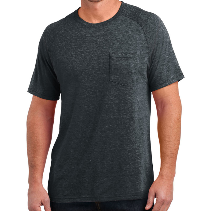 District Made Mens Tri-Blend Pocket Tee (Apparel)