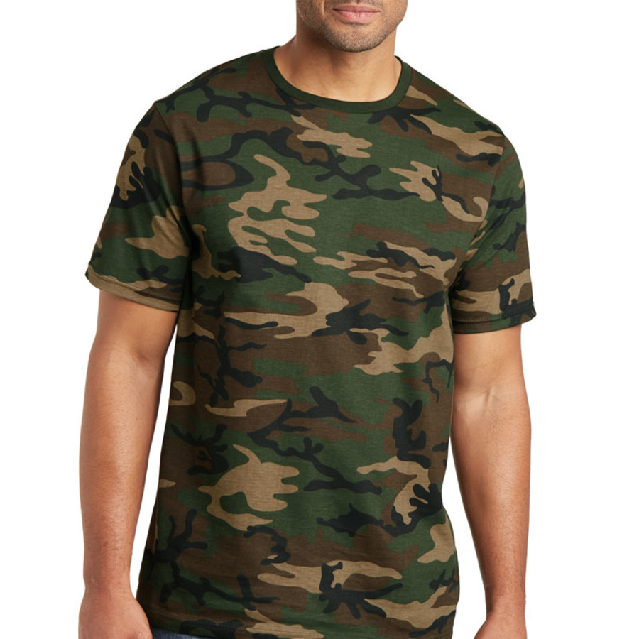 District Made Mens Perfect Weight Camo Crew Tee