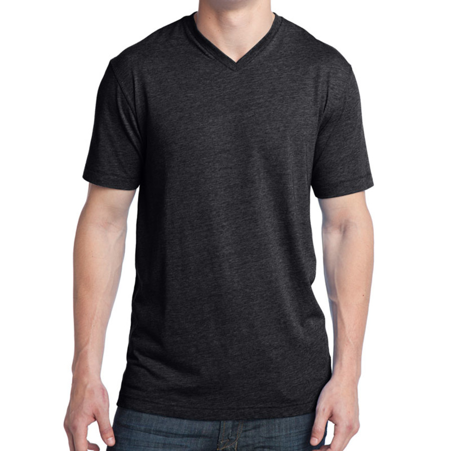 District - Young Mens Tri-Blend V-Neck Tee