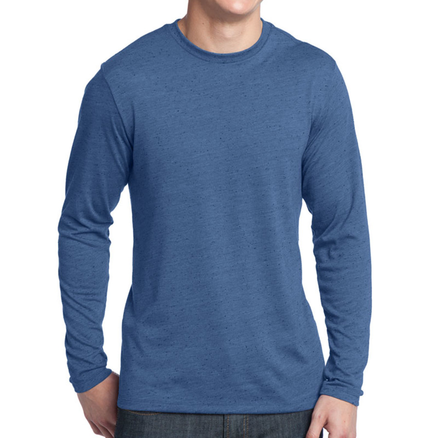 District - Young Mens Textured Long Sleeve Tee