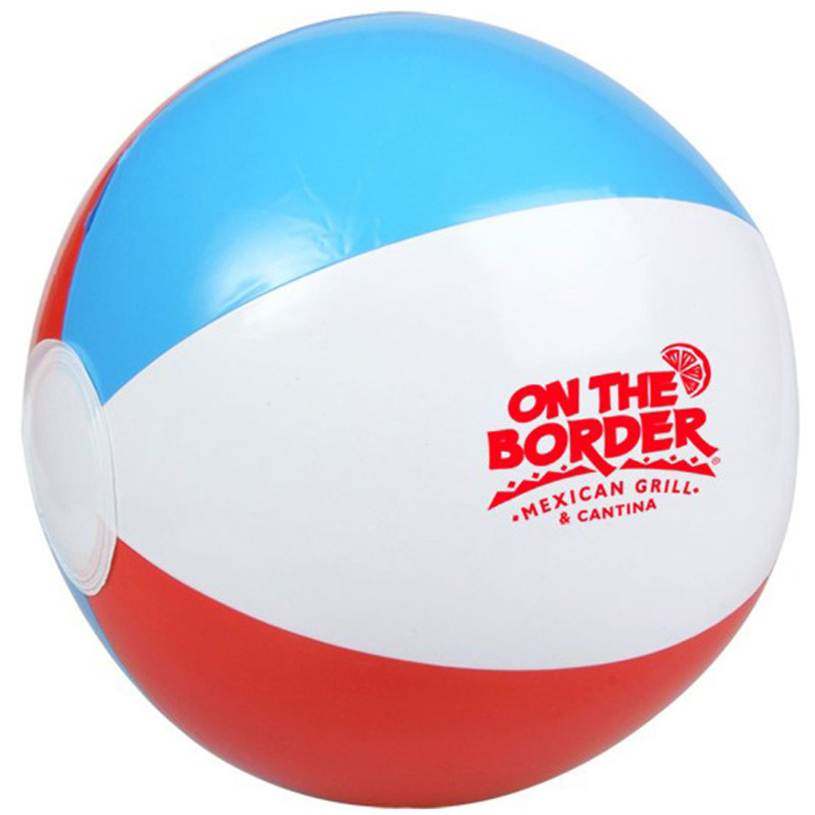 """Printed 10"""" Red, White and Blue Beach Ball"""
