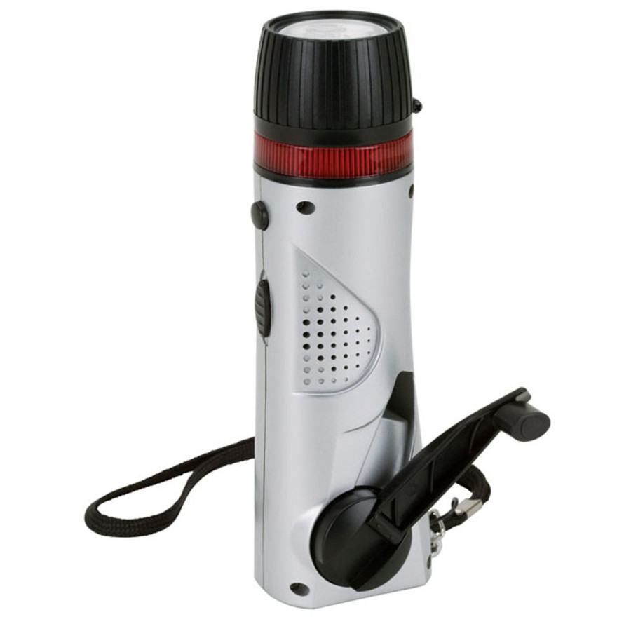 Imprintable Mini Survival Flashlight/Radio