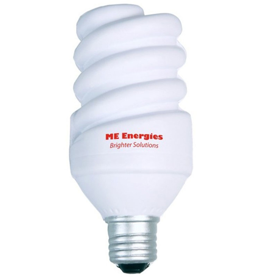 Imprinted Eco Light Bulb Stress Reliever