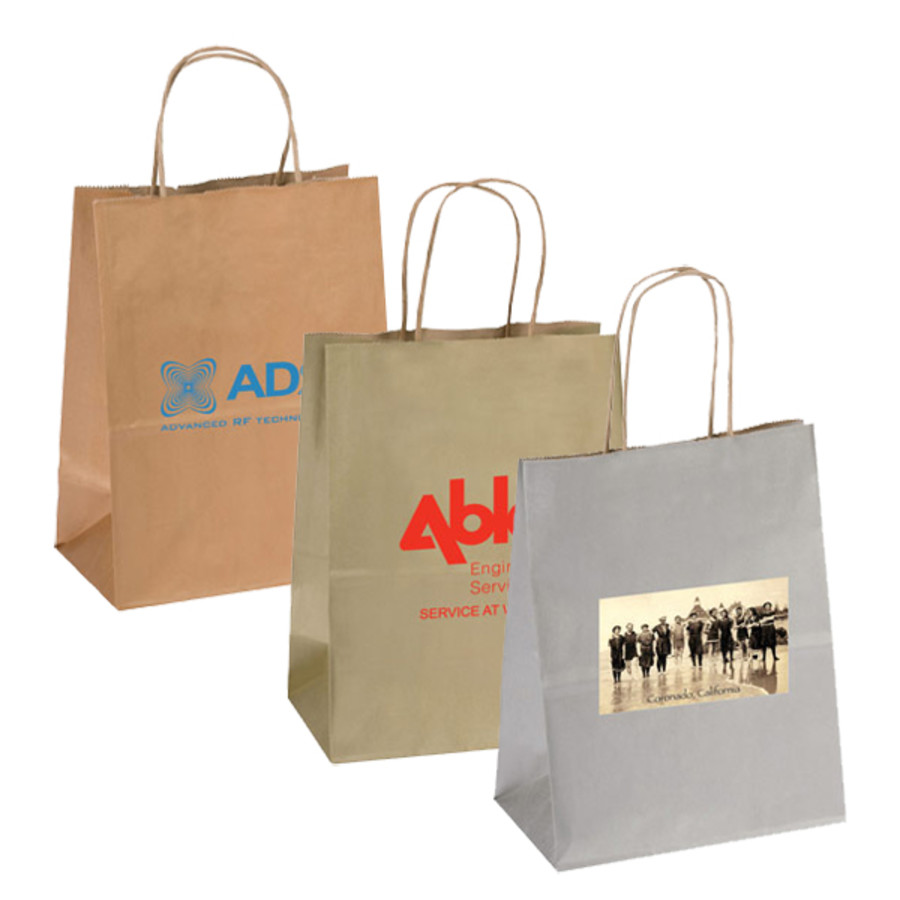 Imprinted-Precious-metals-kraft-shopping-bags