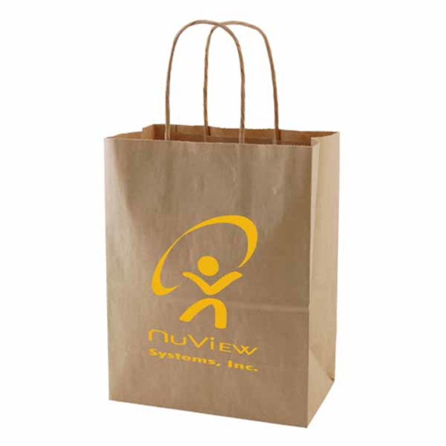 Imprinted Recycled Natural Kraft Bags