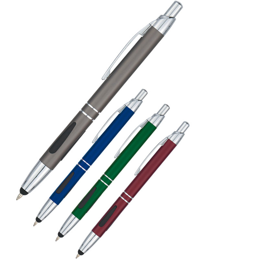 Logo Aluminum Pen With Stylus