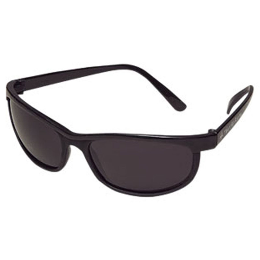 Logo Sunglasses Wrap Style with Dark Lenses