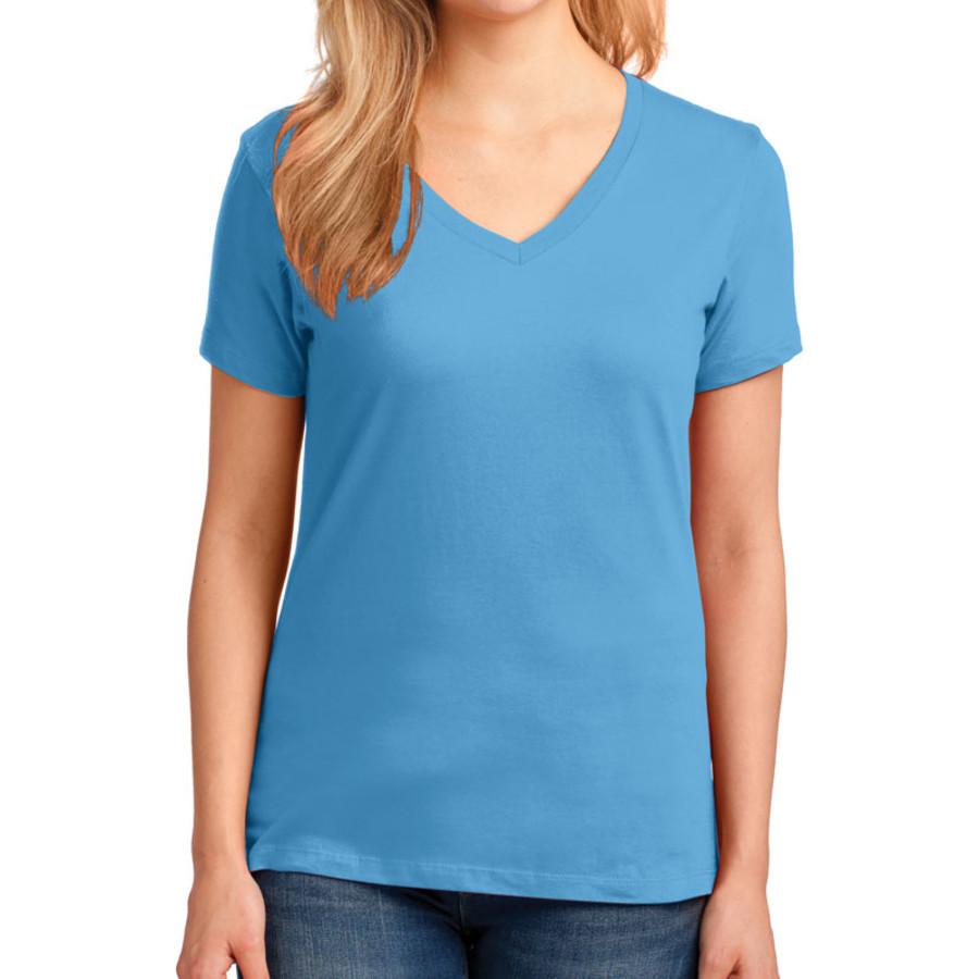 Port & Company Ladies 5.4-oz 100% Cotton V-Neck T-Shirt (Apparel)