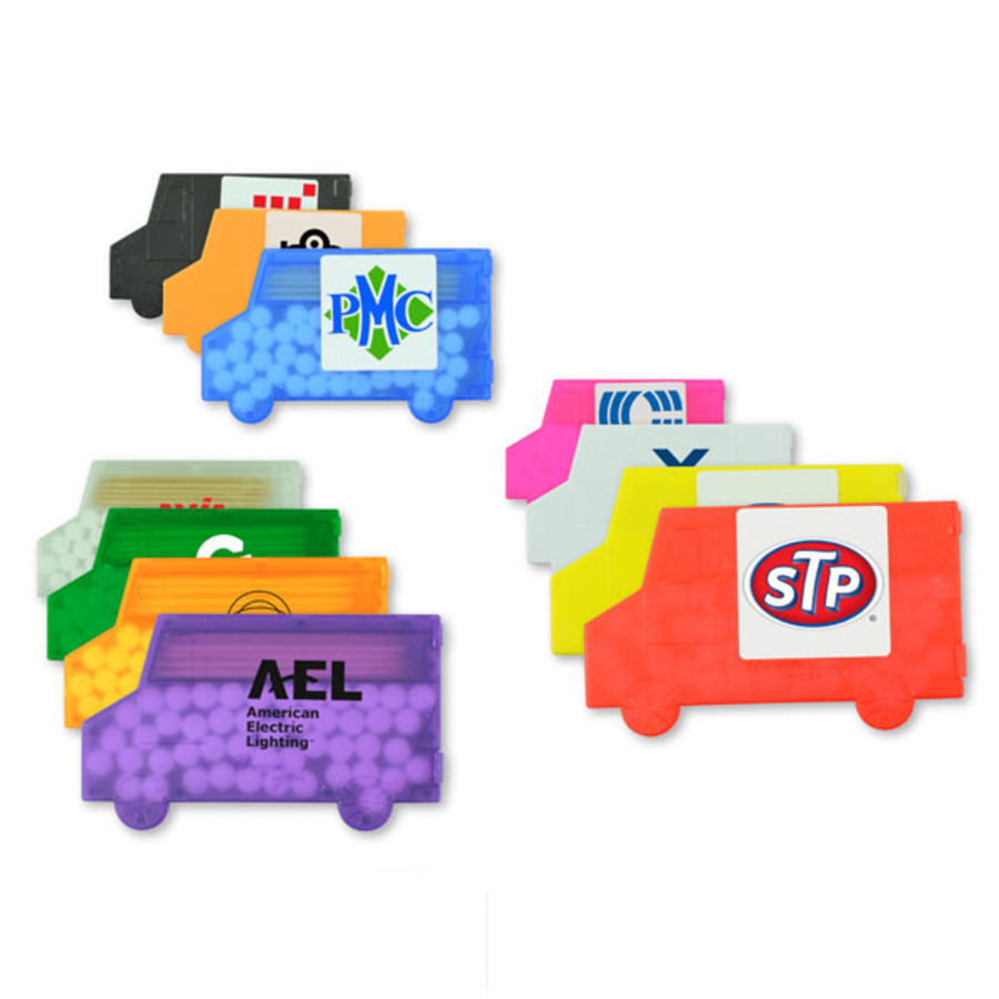 Monogrammed Delivery Truck Mints