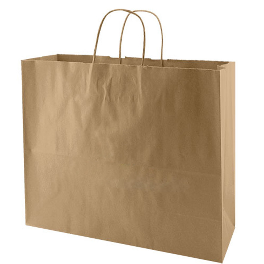 image regarding Printable Paper Bags identified as Imprintable Recycled Organic and natural Kraft Baggage
