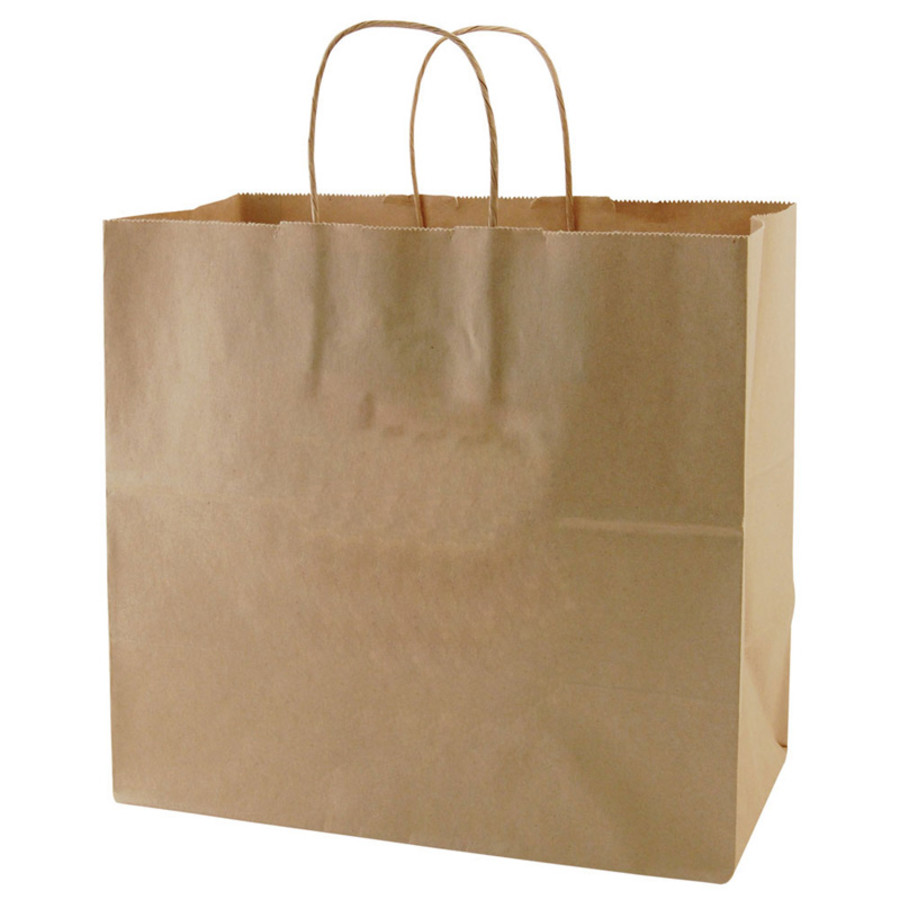 Monogrammed Recycled Natural Kraft Bags