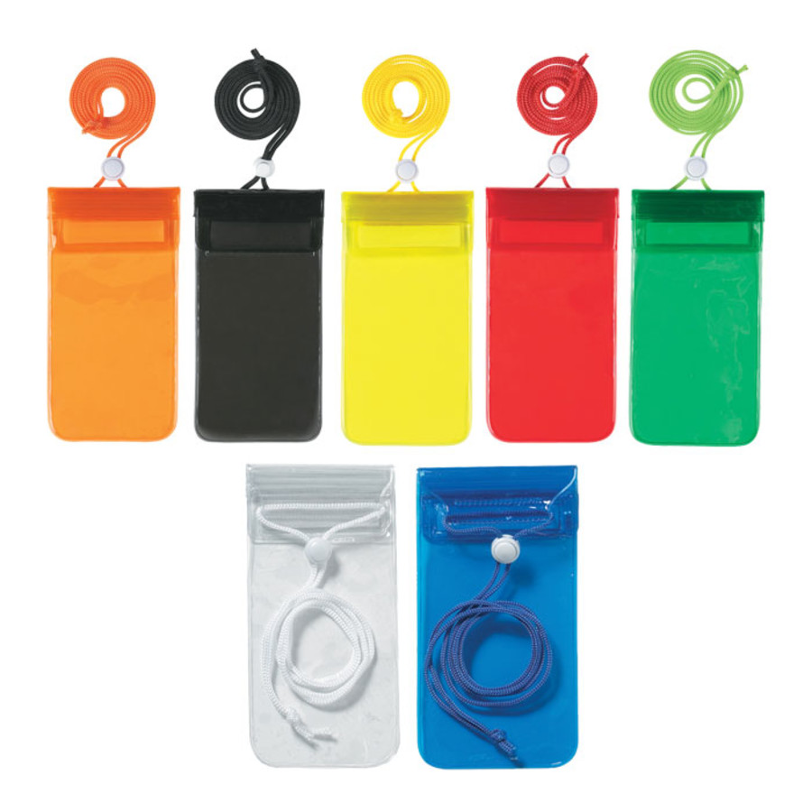 Personalized Handy Waterproof Pouch With Neck Cord