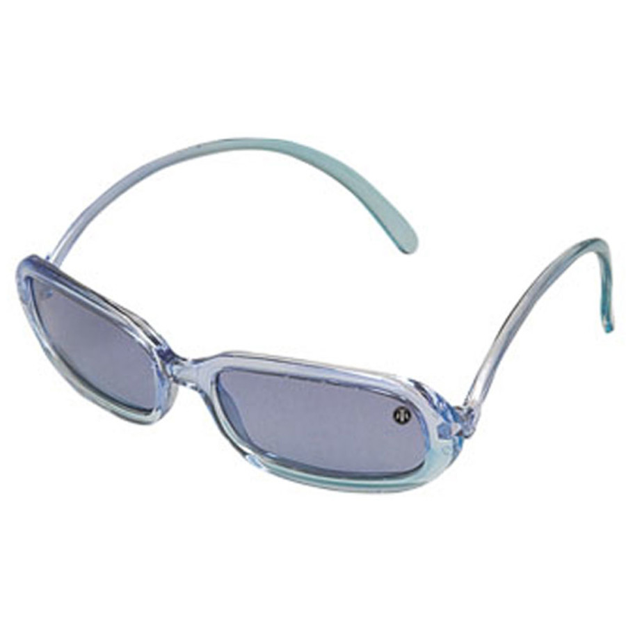 Plastic Clear Blue Half-frames Sunglasses