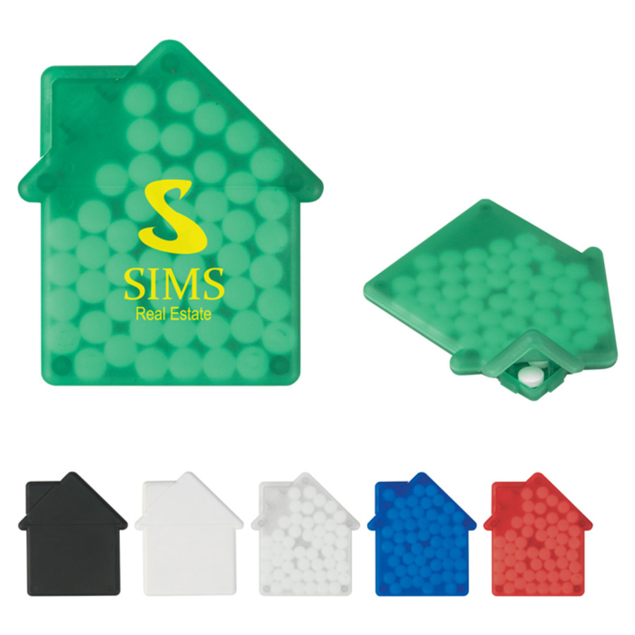 Printed House Shape Peppermints