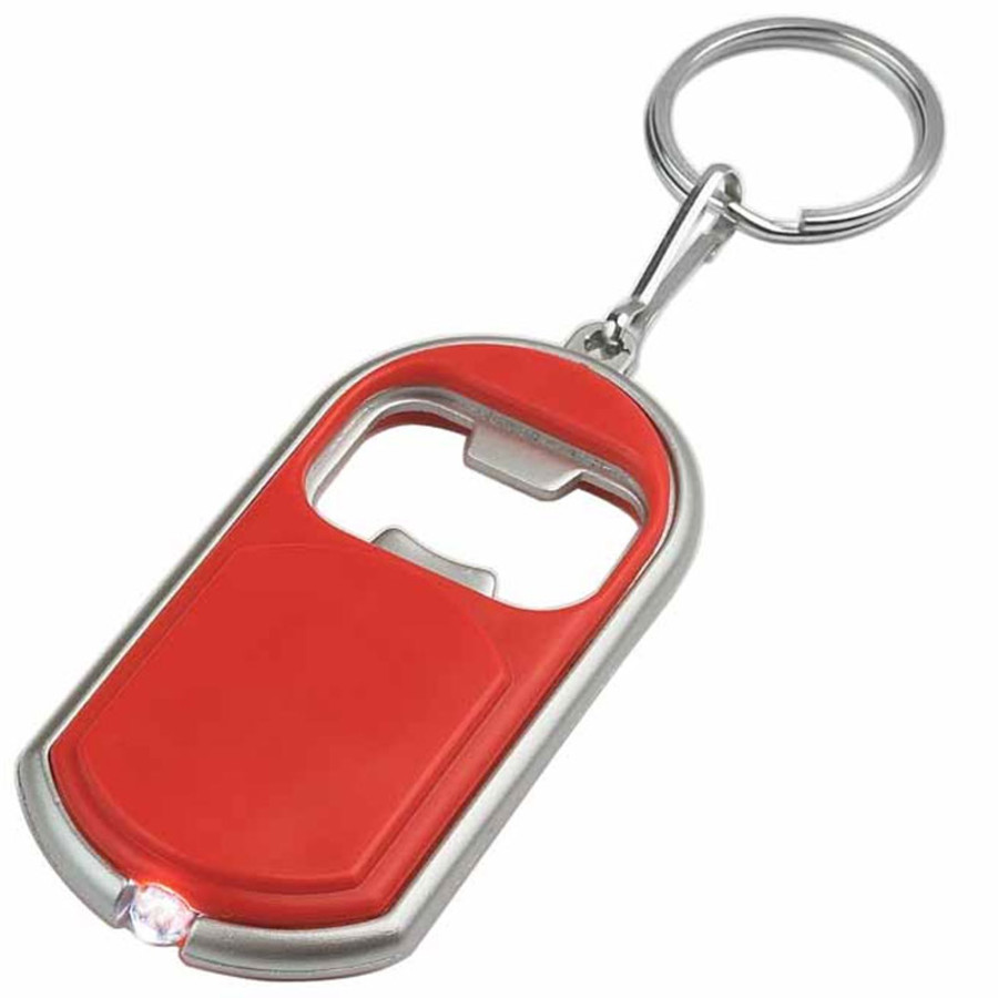 Promo Bottle Opener Key Chain with LED Light