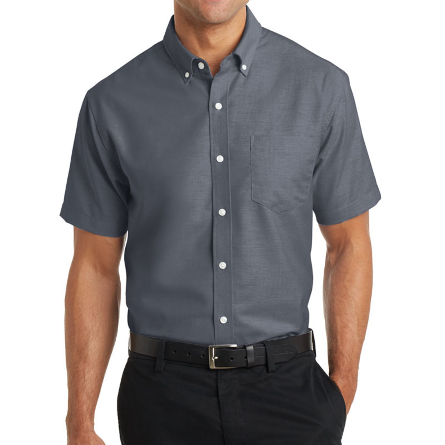 Port Authority Short Sleeve SuperPro Oxford Shirt (Apparel)