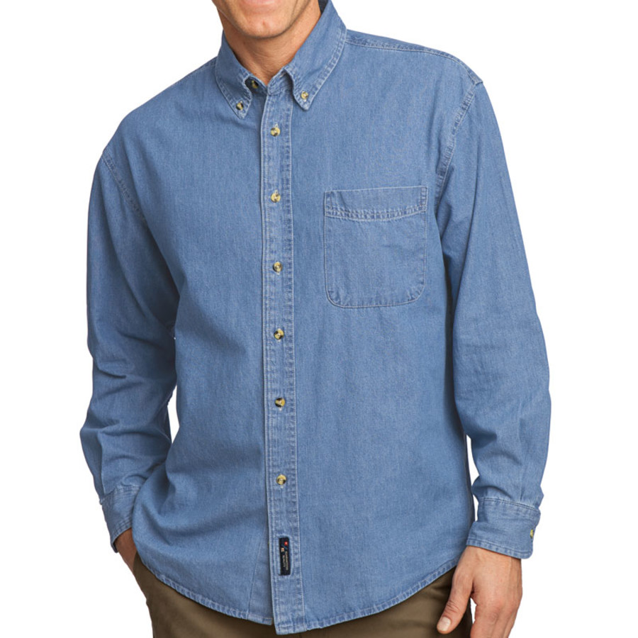 Port & Company - Long Sleeve Value Denim Shirt (Apparel)