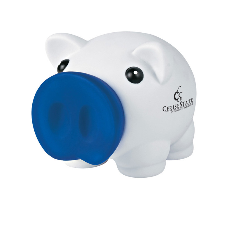 Printed mini prosperous piggy bank silkletter for Mini piggy banks