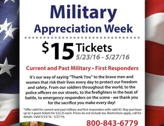 Military Appreciation Week at The Calvin Gilmore Theater