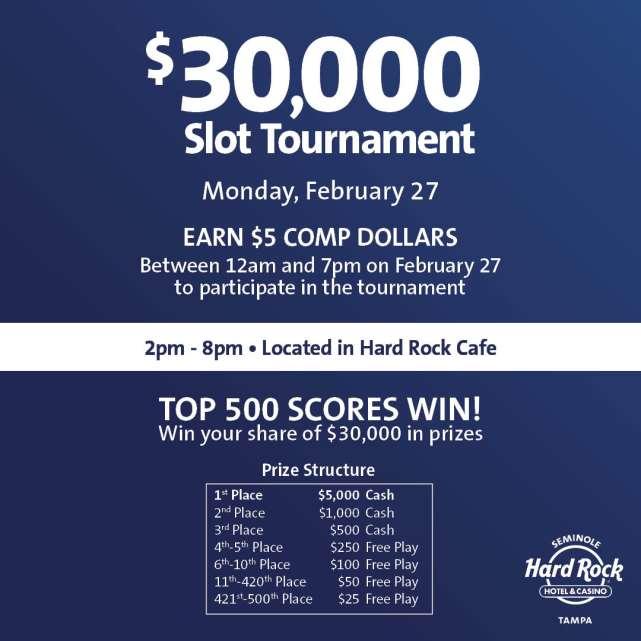 $30,000 Slot Tournament