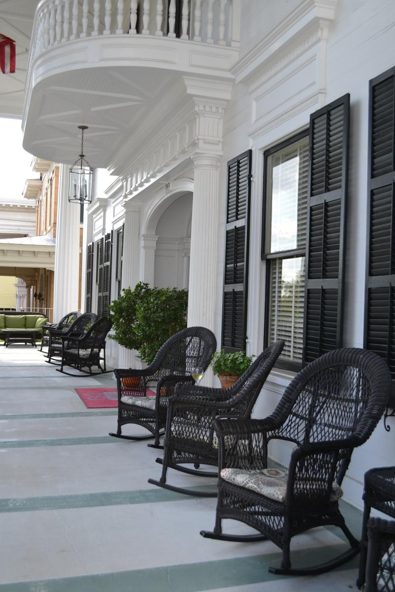 Front Porch of 1842 Inn
