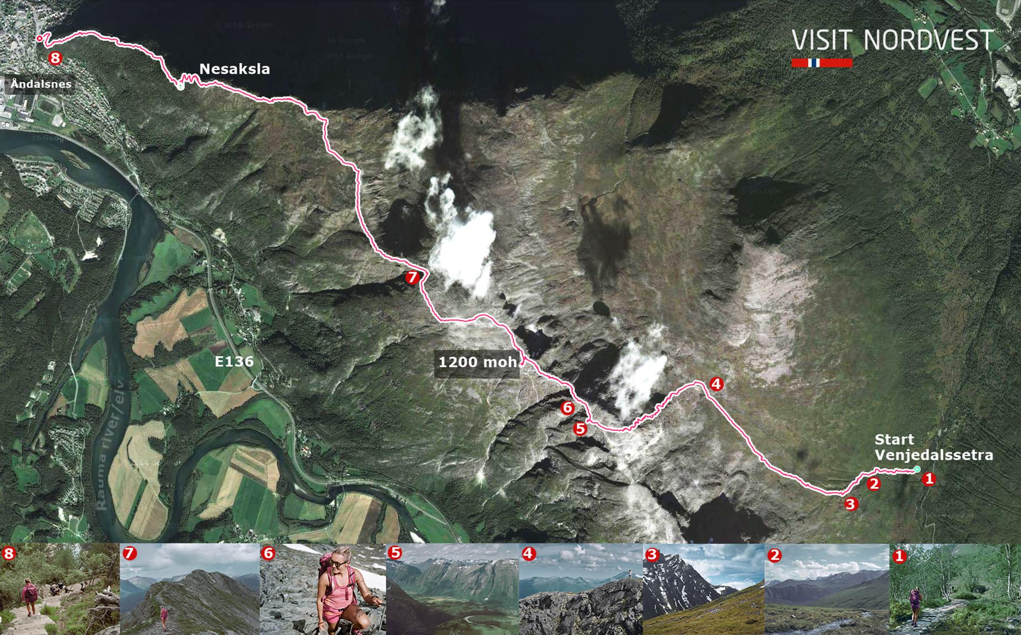 Romsdalseggenkart