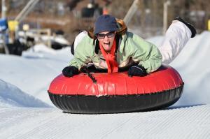 Snow tubing downhill fun at Hidden Valley Resort in Laurel Highlands