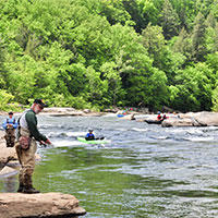 Spring Fishing and Canoeing