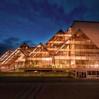 Hult Center for the Performing Arts at Night, Eugene, by Kazuaki Fuse
