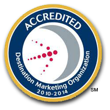 The logo for the Destination Marketing Organization