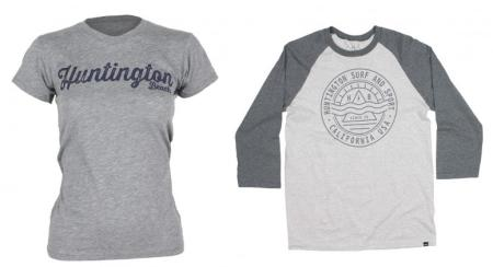 HB Tee styles are available for men, women, and kids at HSS! (Photo courtesy of Huntington Surf and Sport)