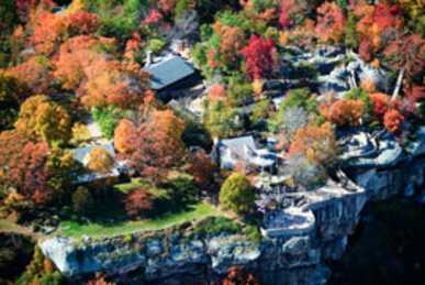 Aerial view of Rock City Gardens
