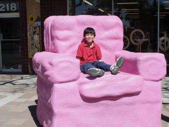 The Big Pink Chair in downtown Mesa sculptures