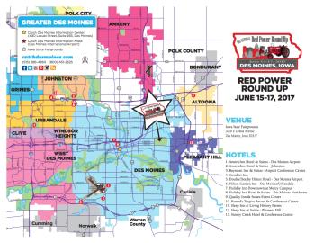 Red Power Round Up Hotel Map 2016